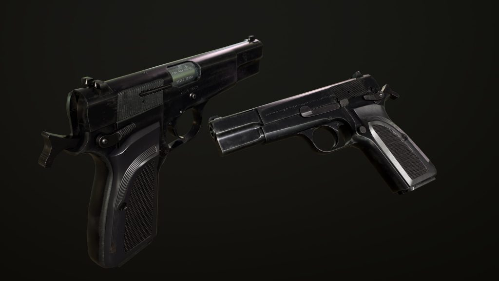 Render of Browning Hi Power Mark III model