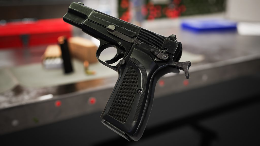 Scene render of Browning Hi Power Mark III model