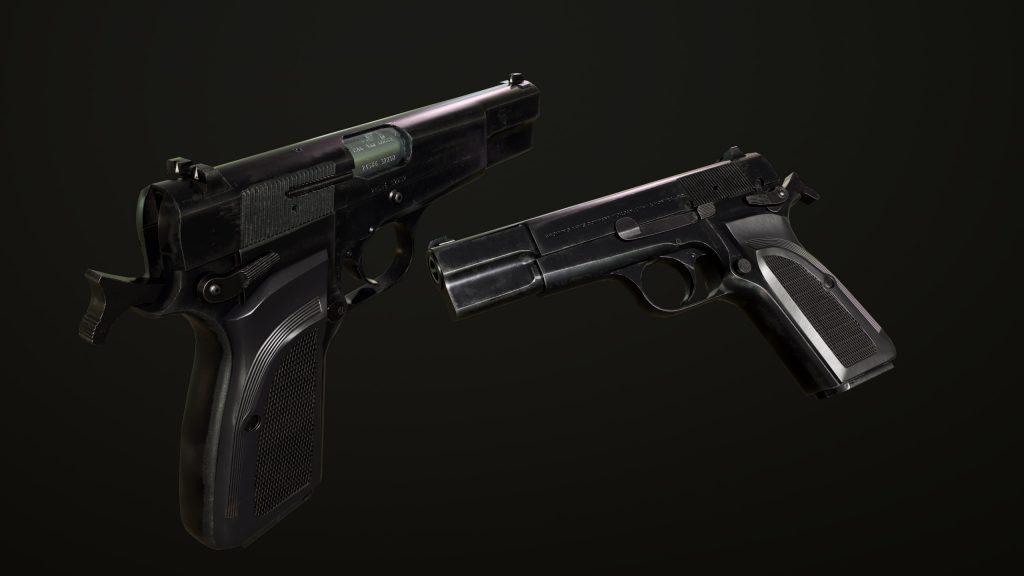 Render of Browning Hi Power Mark III model