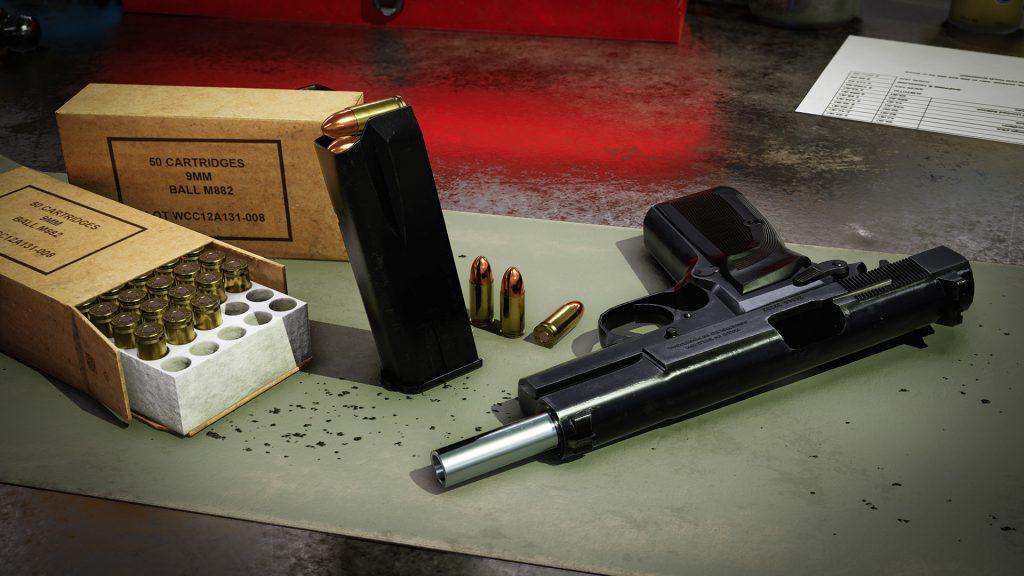 Scene render of Browning Hi Power Mark III model