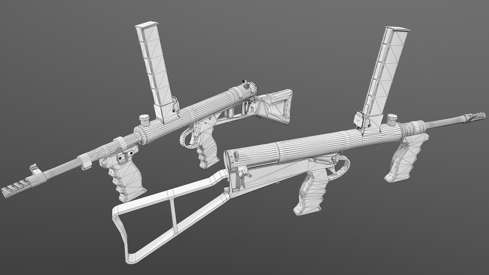 Wireframe Owen Gun