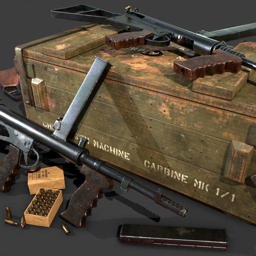 3D Model of Owen Gun