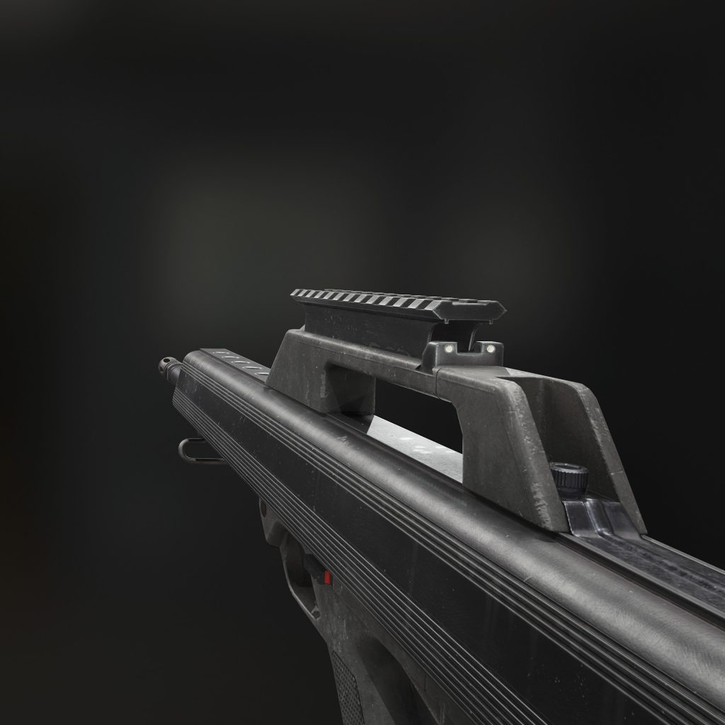 Close up view of the M17S Rifle 3d model