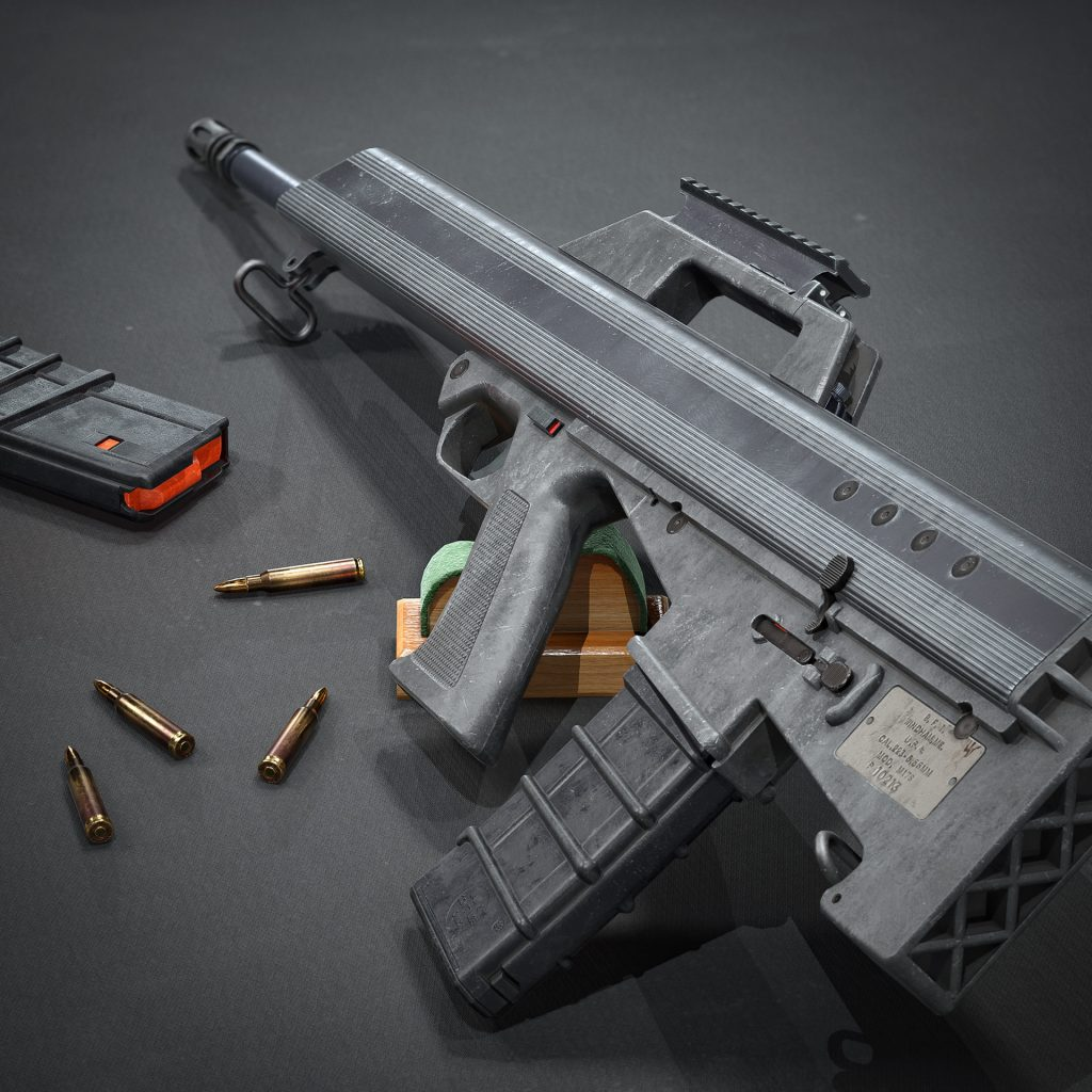 Marmoset Toolbag Render with spare magazine and ammunition
